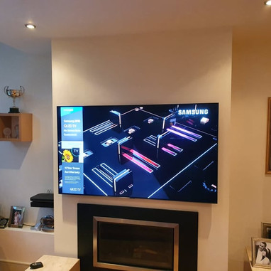 """65 """" Samsung tv mounted on the wall for a client from Cabinteely Dublin 18"""