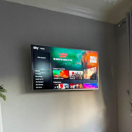 Tv installation and Sky box management .
