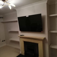 Tv and shelves installation for a client from Trim County Meath