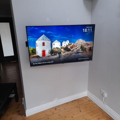 Tv installation in
