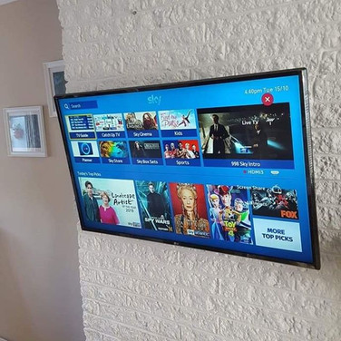 Tv mounted on the wall in Sutton Dublin 13
