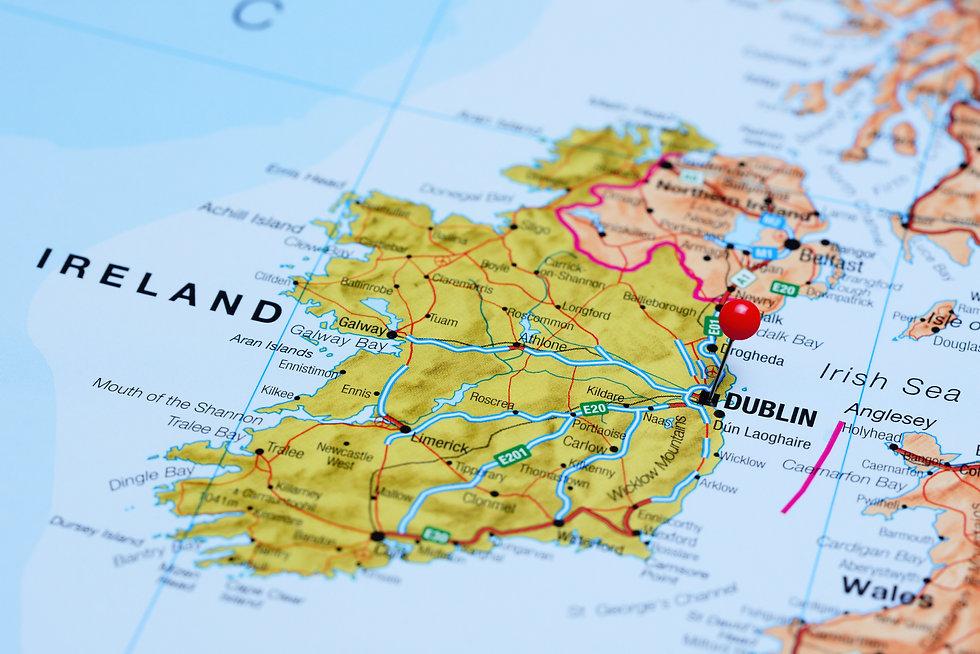 Dublin pinned on a map of Ireland .jpg