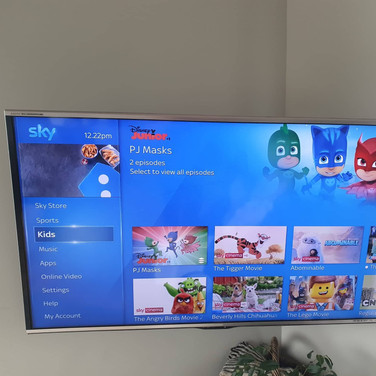 Tv mounted on the wall with Sky box and all cables hidden Skerries North County Dublin