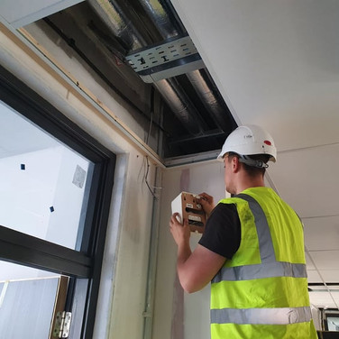 Our technician installing sound system for an Educational Centre Maynooth Co Kildare