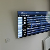 TV MOUNTED ON THE WALL FOR A CLIENT FROM RAMPART GREEN IN DROGHEDA