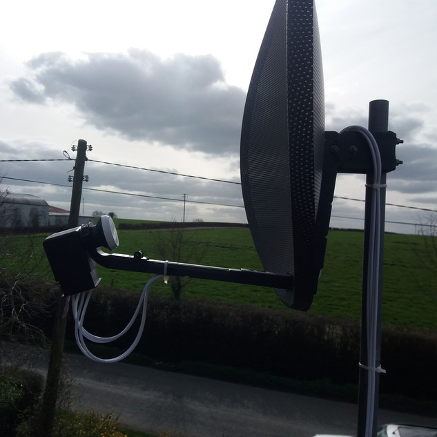 WE FIXED SATELLITE DISH PROBLEM IN THE HOUSE IN ARDCATH IN COUNTY MEATH