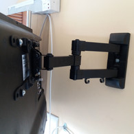 Extendable tv wall bracket we have mounted for a client from Dublin