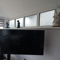 Tv mounted on the extra long wall bracket in Glasnevin Dublin 9