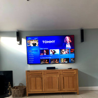 "82 "" tv mounted on the wall for a client from Woodlands Ratoath Co Meath"