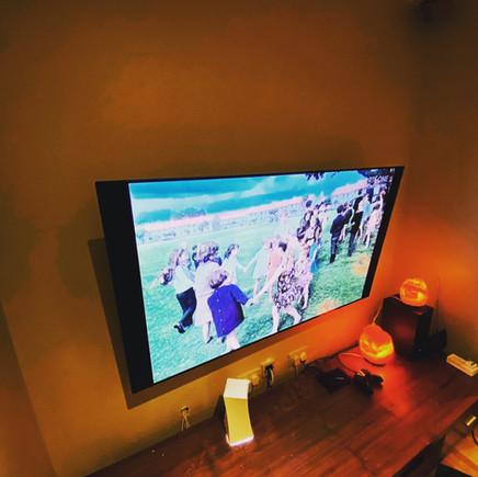 tv installation in the living room, Deans Grange, County Dublin