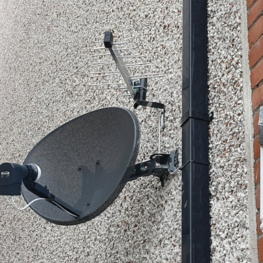 Satellite dish and Saorview aerial installation in Dunshaughlin Co Meath