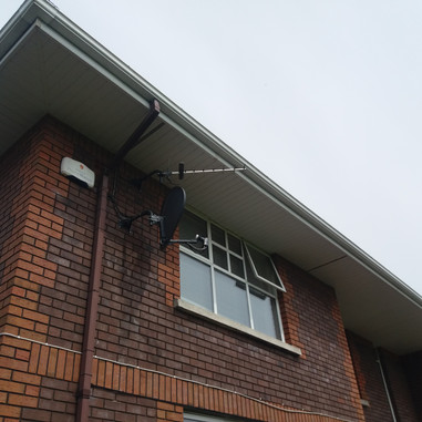 Satellite dish and Saorview aerial installation Stradane House b&b Ballymadun North Co Dublin