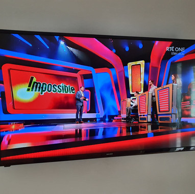 """65"""" tv mounted on the wall for a client from Ashbourne Co Meath"""