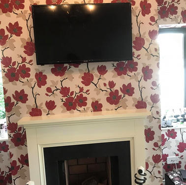 Tv mounted on the wall for a client from Hickeys Lane in Ashbourne Co Meath
