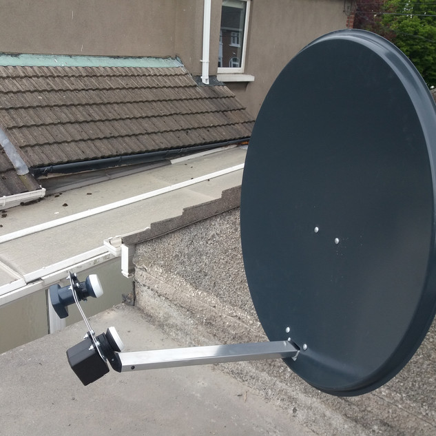 80 CM SOLID SATELLITE DISH WEHAVE INSTALLED IN ST BRENDANS PARK IN DUBLIN 5