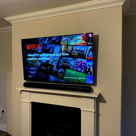 65 Oled tv installation