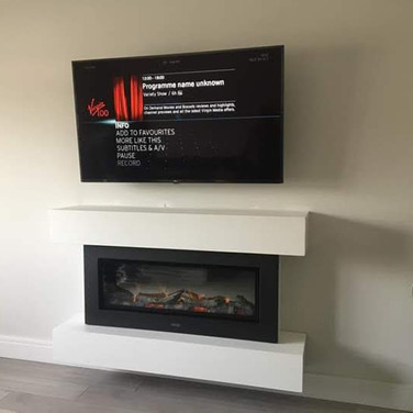 Tv mounted on the wall for a client from Dunshaughlin Co Meath