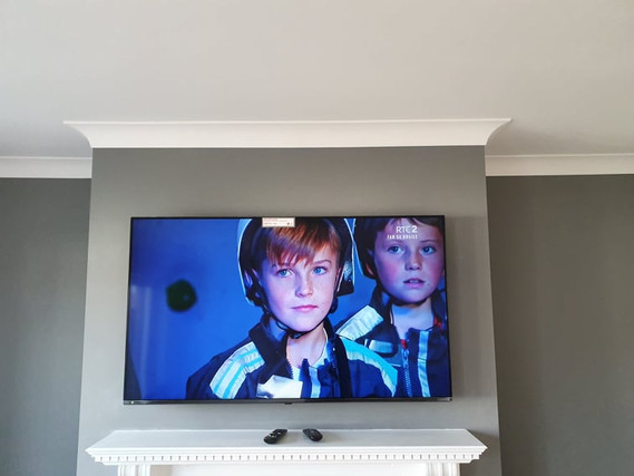 Tv mounted on the flat wall bracket in Ardee Co Louth