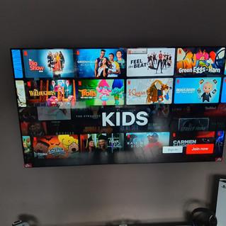 TV INSTALLATION IN GAMING ROOM