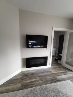 Tv mounted on the wall with all cables concealed Blackrock Co Louth