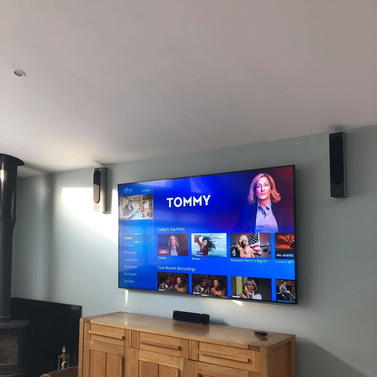 """82"""" Samsung tv mounted on the wall in Woodlands Ratoath Co Meath"""
