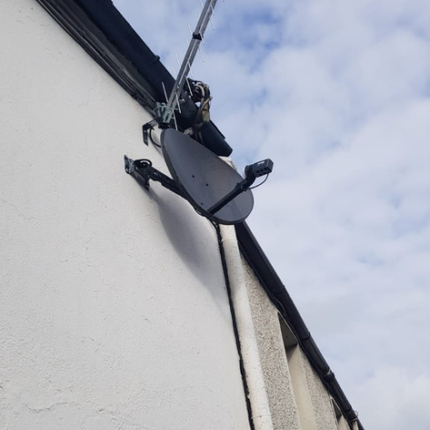 Satellite dish and Saorview aerial installation in Blackpool Cork City