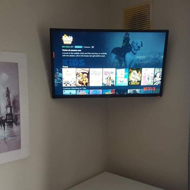 Tv mounted on the swivel wall bracket for client from Blanchardstown Dublin 15