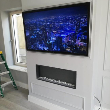 TV MOUNTED ON THE FLAT WALL BRACKET SWORDS NORTH COUNTY DUBLIN