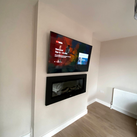 Tv wall mounting and cable management in Mullingar Co Westmeath