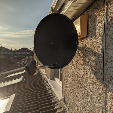 Solid satellite dish and Saorview aerial  installation Malahide North Co Dublin