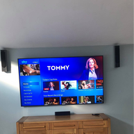 """82 """" tv mounted on the wall for a client from Ratoath County Meath"""