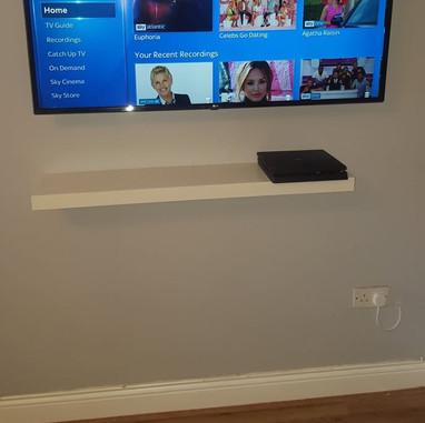 Tv mounted on the swivel wall bracket in Ratoath Co Meath