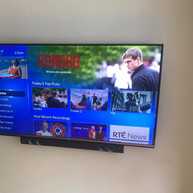 Tv wall mounting with all cables concealed in Clonee Co Meath