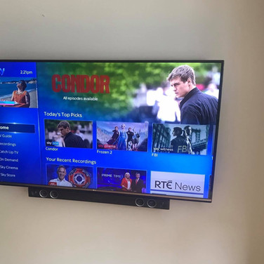 Tv and soundbar installation in Clonee