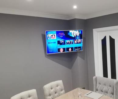 Tv mounted on the wall in Blackcastle Navan Co Meath