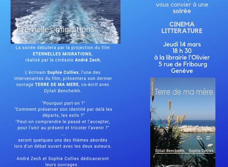 Soirée cinéma littérature à L'Olivier - ICAM  Genève