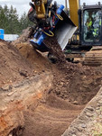 Gyru-Star 6-150HDX backfilling trenches