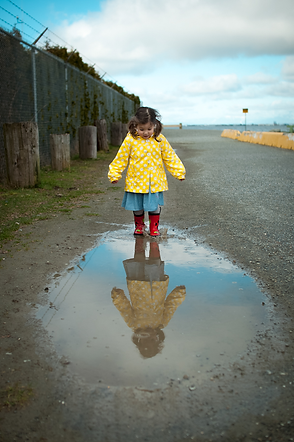 puddle jumping at crescent beach