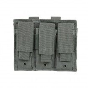 VISM® by NcSTAR® TRIPLE PISTOL MAG POUCH/URBAN GRAY