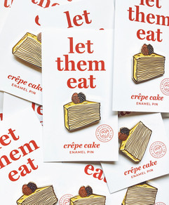 Crepe Cake Enamel Pins