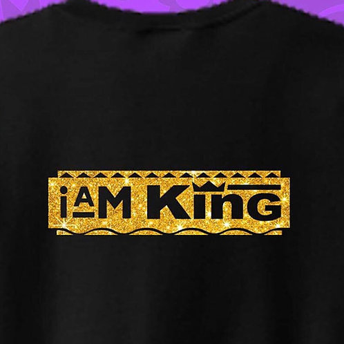 I am King Crew Neck Gold