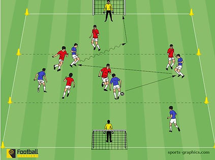 Football training practice. Soccer drills.