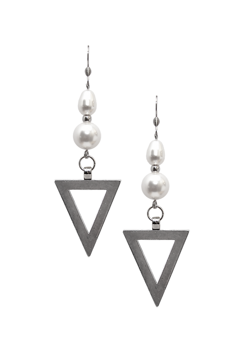 PEARL earrings Triangulum