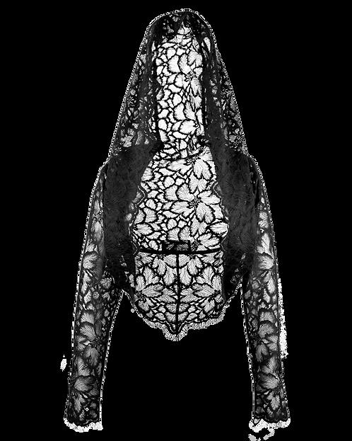 Bolero-Hoodie lace