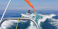 Glisse tractée pour apprentissage du Kite