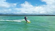 Cours de kitesurf, débutant, perfectionnement, départ de La Marina Bas-du-Fort, Gosier, Guadeloupe