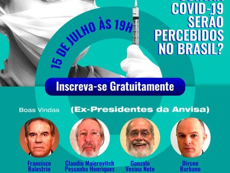 Conversa aberta entre os três ex-presidentes da Anvisa sobre vacinação Covid-19