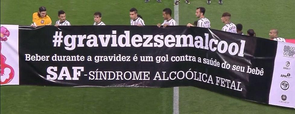 Considerado um dos maiores times de futebol do Estado de São Paulo, o Corinthians entrou em campo com faixa da campanha no jogo contra a Penapolense, dia 26/03/2014.