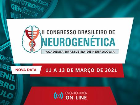 Vem aí o II Congresso Brasileiro de Neurogenética