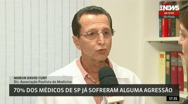 Pesquisa: 70% dos médicos de SP já sofreram algum tipo de violência